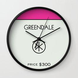 Greendale Monopoly Location Wall Clock