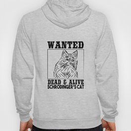 Wanted Schrodinger s cat Black OutLine Hoody
