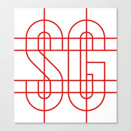 Studio Glmn (SG) logo Canvas Print