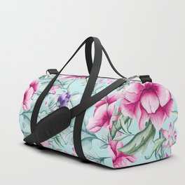 Floral Pattern Mint Duffle Bag