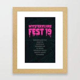 Mysterycore Fest 19 Framed Art Print