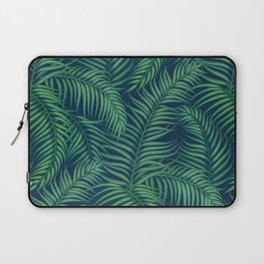 Night tropical palm leaves Laptop Sleeve
