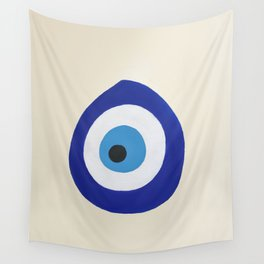 Blue Evil Eye Wall Tapestry