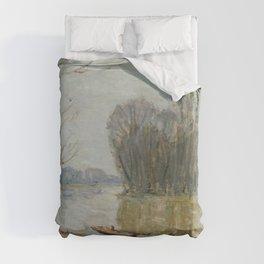 Alfred Sisley - The Loire Duvet Cover