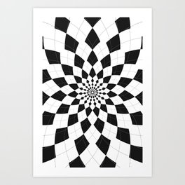 Black & White Argyle Art Print