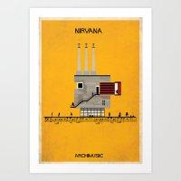 nirvana Art Prints featuring Nirvana by federico babina