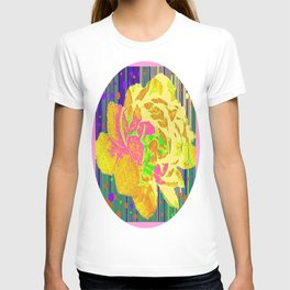 Yellow-Pink  Rose Fantasy Abstract T-shirt