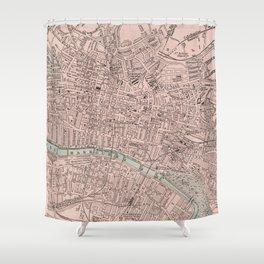 Vintage Map of Glasgow Scotland (1901) Shower Curtain