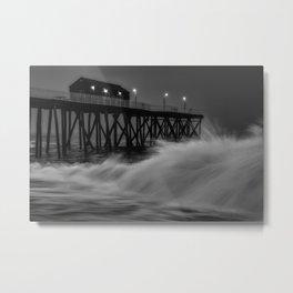 Brave waves Metal Print