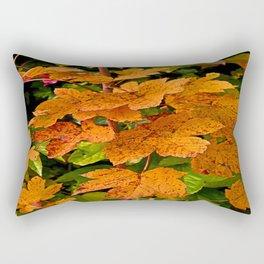 glowing autumn leafs Rectangular Pillow