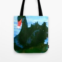noir Tote Bags featuring NOIR by FOXART  - JAY PATRICK FOX