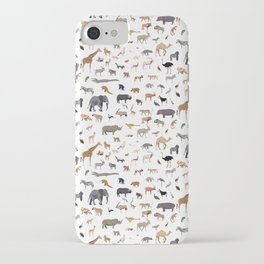 African animal pattern iPhone Case