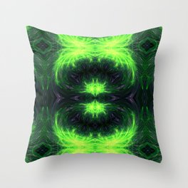 Psychedelic geometry pattern (Acid session vol.1) Throw Pillow