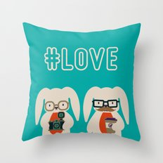 Hipster #LOVE Throw Pillow