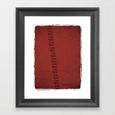 Handwriting: Copy Paste Framed Art Print