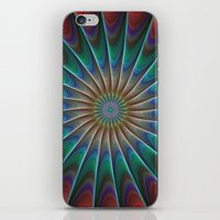 fractal iPhone & iPod Skins featuring Peacock fractal by David Zydd