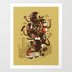 The big trip  Art Print