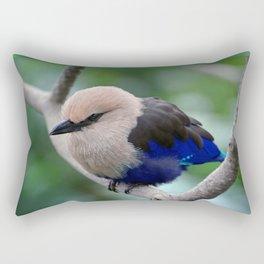 Blue Bellied Roller Rectangular Pillow