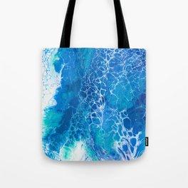 Sea Turtle Splash Tote Bag