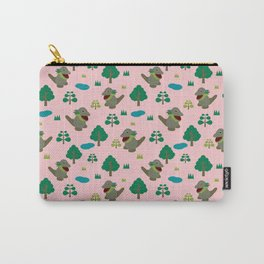 Moccomerian pattern Carry-All Pouch
