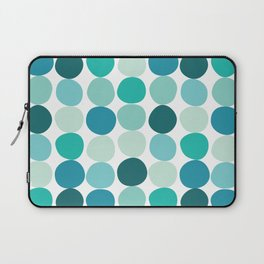 Midcentury Modern Dots Blue Laptop Sleeve