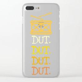 Dut. Dut. Dut. Dut Clear iPhone Case