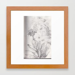 Smudged study Framed Art Print