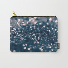 Blush Blue Lady Glitter #1 #shiny #decor #art #society6 Carry-All Pouch