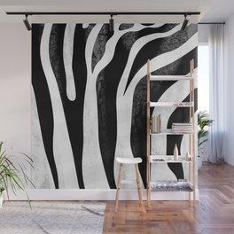 Zebra pattern - abstract art Wall Mural