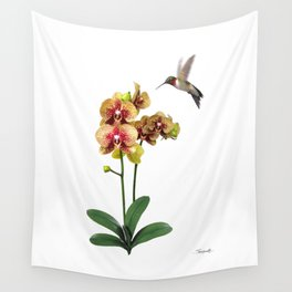 Hummingbird & Phalaenopsis Wall Tapestry