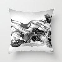 ninja Throw Pillows featuring Ninja by Kr_design