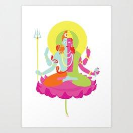Shiva - Shakti Art Print