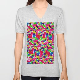 Colourful Abstract Painting Unisex V-Neck