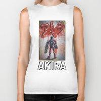 akira Biker Tanks featuring Akira by Joe Badon