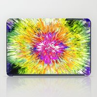 tie dye iPad Cases featuring Textured Retro Tie Dye by Phil Perkins