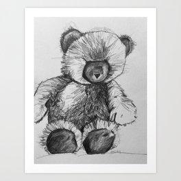 Teddy Bear Love Art Print