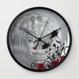 Light Side Of The Moon Wall Clock