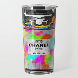 No 5 Rainbow Colors Travel Mug