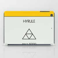 hyrule iPad Cases featuring Hyrule Monopoly location by HuckBlade