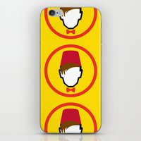 fez iPhone & iPod Skins featuring Man With Fez by Evan Ayres