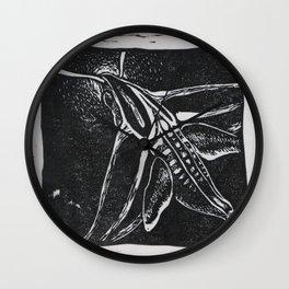 The Hummingbird Moth Wall Clock