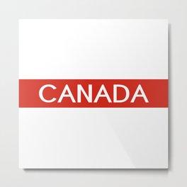 Canada (Stripe) Metal Print