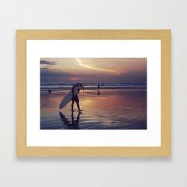 Surfer in Kuta Framed Art Print
