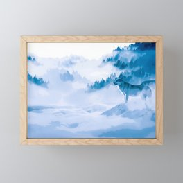 Mountain Wolves Framed Mini Art Print