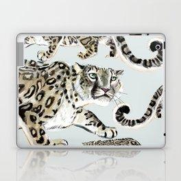 Snow leopard in ice grey Laptop & iPad Skin