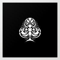 Suit Series: Club in Geometric Tribal Art Print