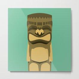 Brown Tiki Metal Print
