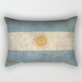 Old and Worn Distressed Vintage Flag of Argentina Rectangular Pillow