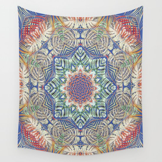 Jungle Kaleidoscope Wall Tapestry