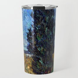Vincent van Gogh - Road with Cypress and Star Travel Mug